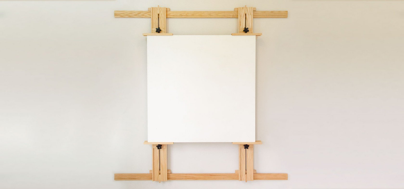 Showcase 66 Inch Wall Easel with Canvas