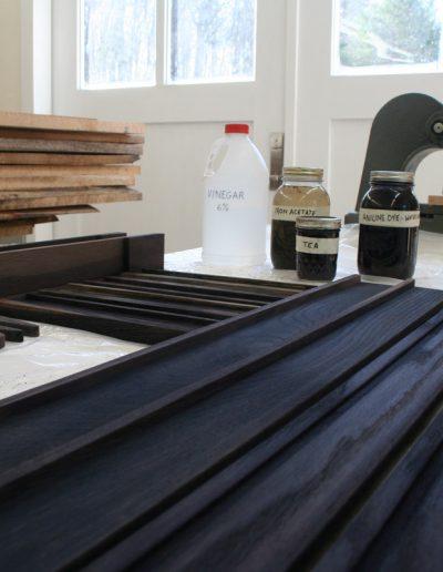 Ebonized Tueller Oak Wall Easel - Process: Iron Acetate