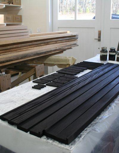 Ebonized Tueller Oak Wall Easel - Process: Aniline Dye